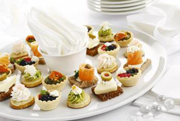 Office corporate wedding and private catering services for Canape buffet menus