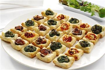 Mini Savoury Puff Tart Selection