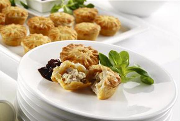 Mini British Chicken & Bacon Pies