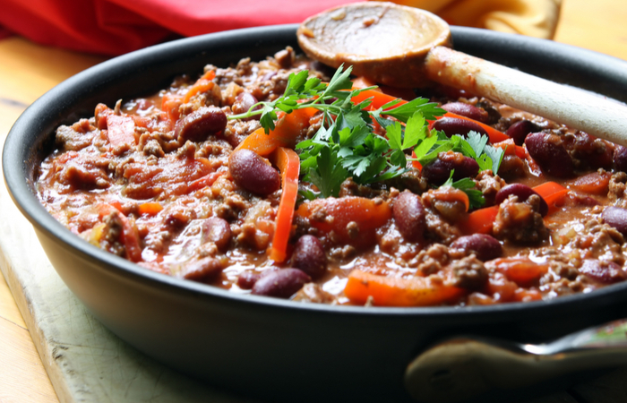 Hot dish 3: Chilli con carne (min 50ppl)