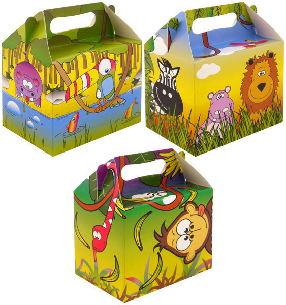 Cartoon cardboard kids lunch party box 1 (min 25ppl)